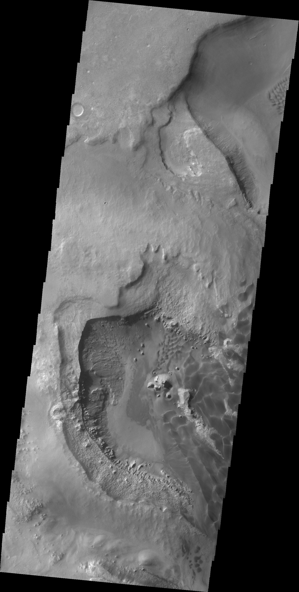 This image shows a portion of the dunes on the floor of Rabe Crater captured by NASA's 2001 Mars Odyssey spacecraft.