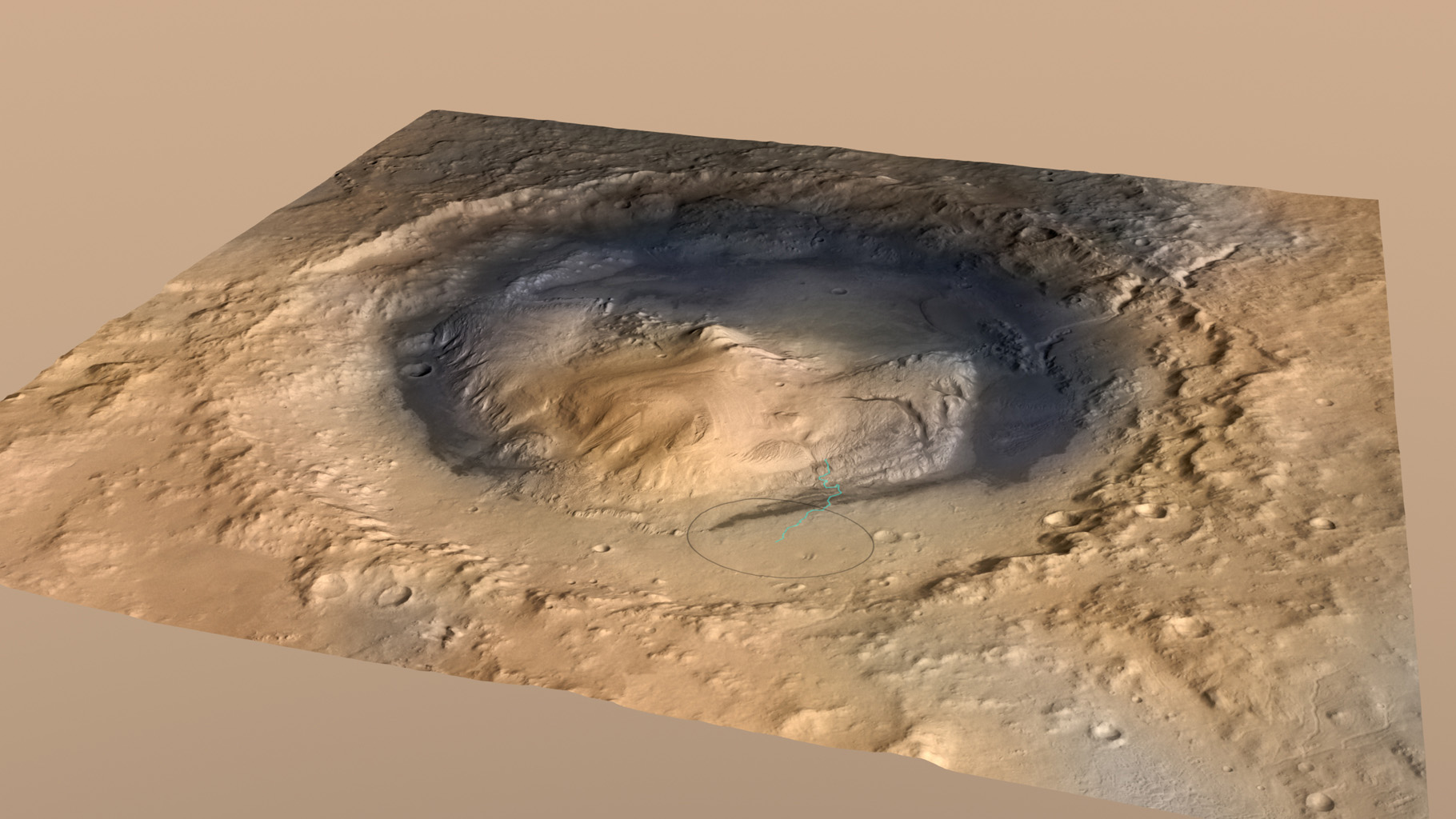 Curiosity, the big rover of NASA's Mars Science Laboratory mission, will land in August 2012 near the foot of a mountain inside Gale Crater. The mission's project science group is calling the mountain Mount Sharp.