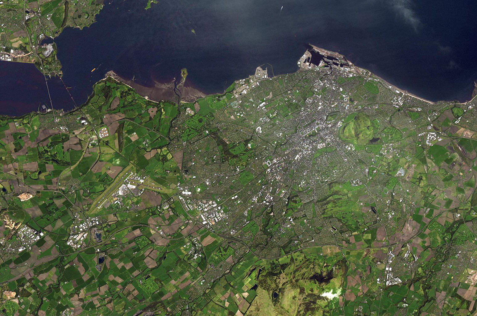 This image, from NASA's Terra spacecraft, is of the capital of Scotland, and lies along the Firth of Forth.
