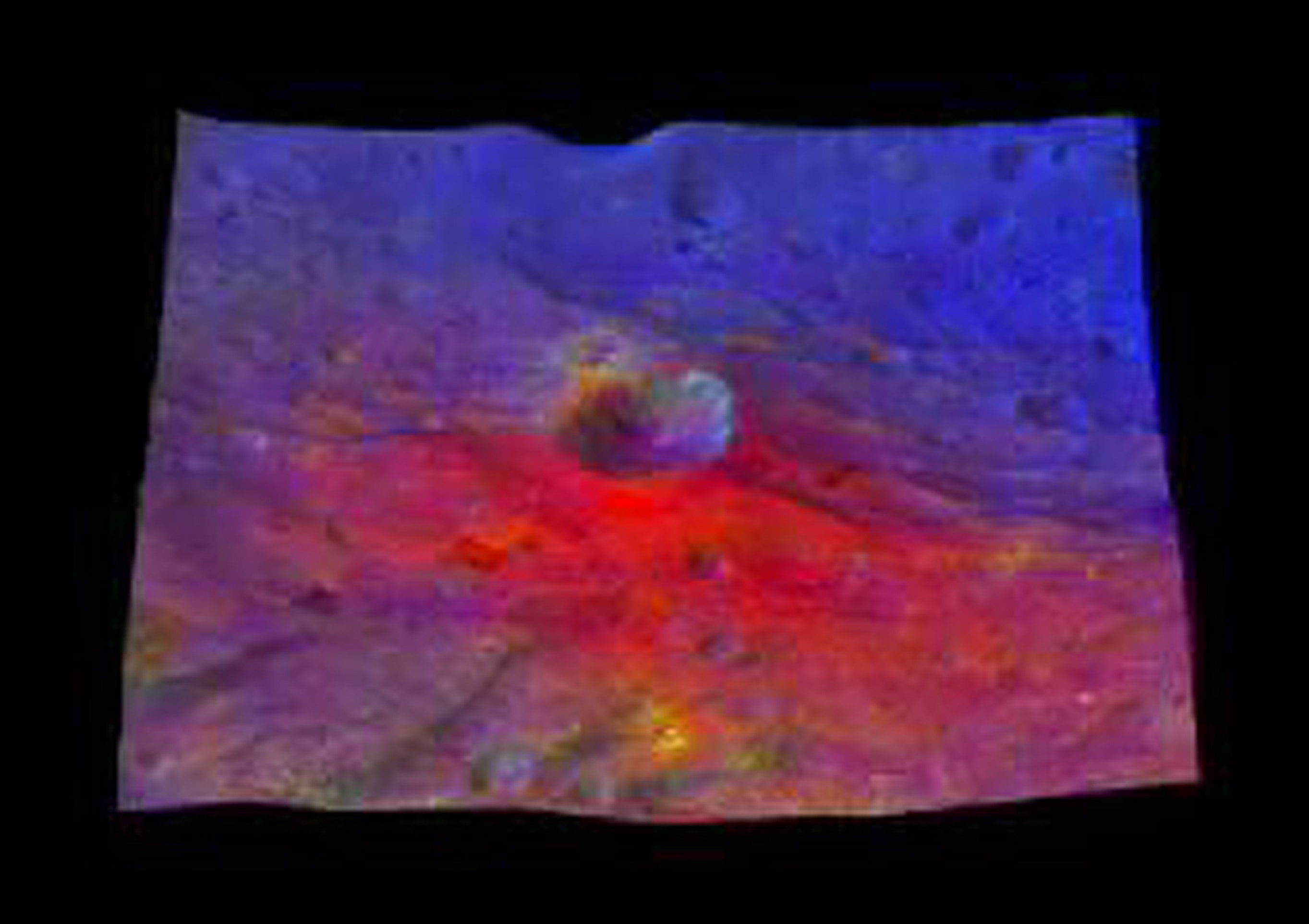 This image from NASA's Dawn mission shows a 3-D, colorized rendering of Oppia Crater near the equator of the giant asteroid Vesta. Oppia is about 21 miles (34 kilometers) across.