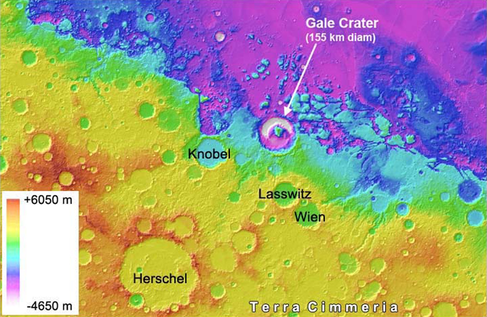 Space Images   Gale Crater is Low on Mars
