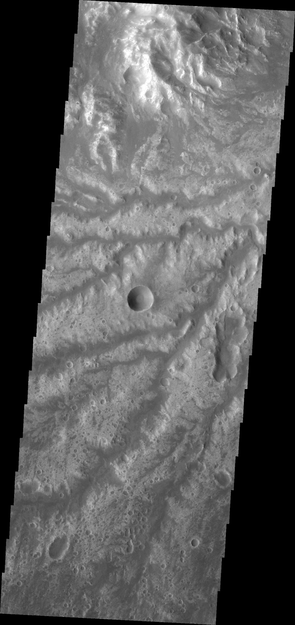 Today's VIS image shows more of the channel network that comprises Arda Valles.