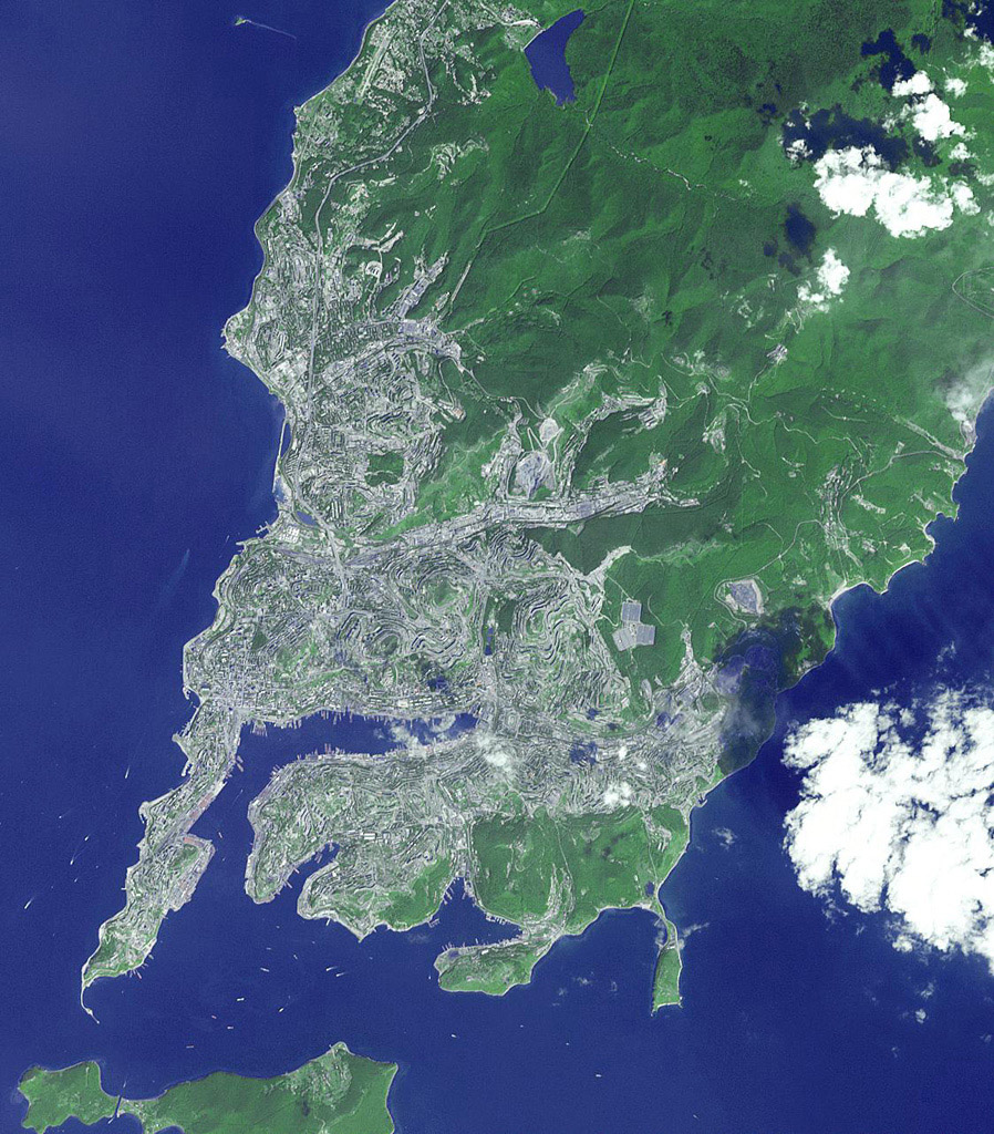 This image, acquired by NASA's Terra spacecraft, is of Vladivostok, the administrative center of Primorsky Krai, Russia, and home port of the Russian Pacific Fleet, situated at the head of the Golden Horn Bay, Vladivostok.