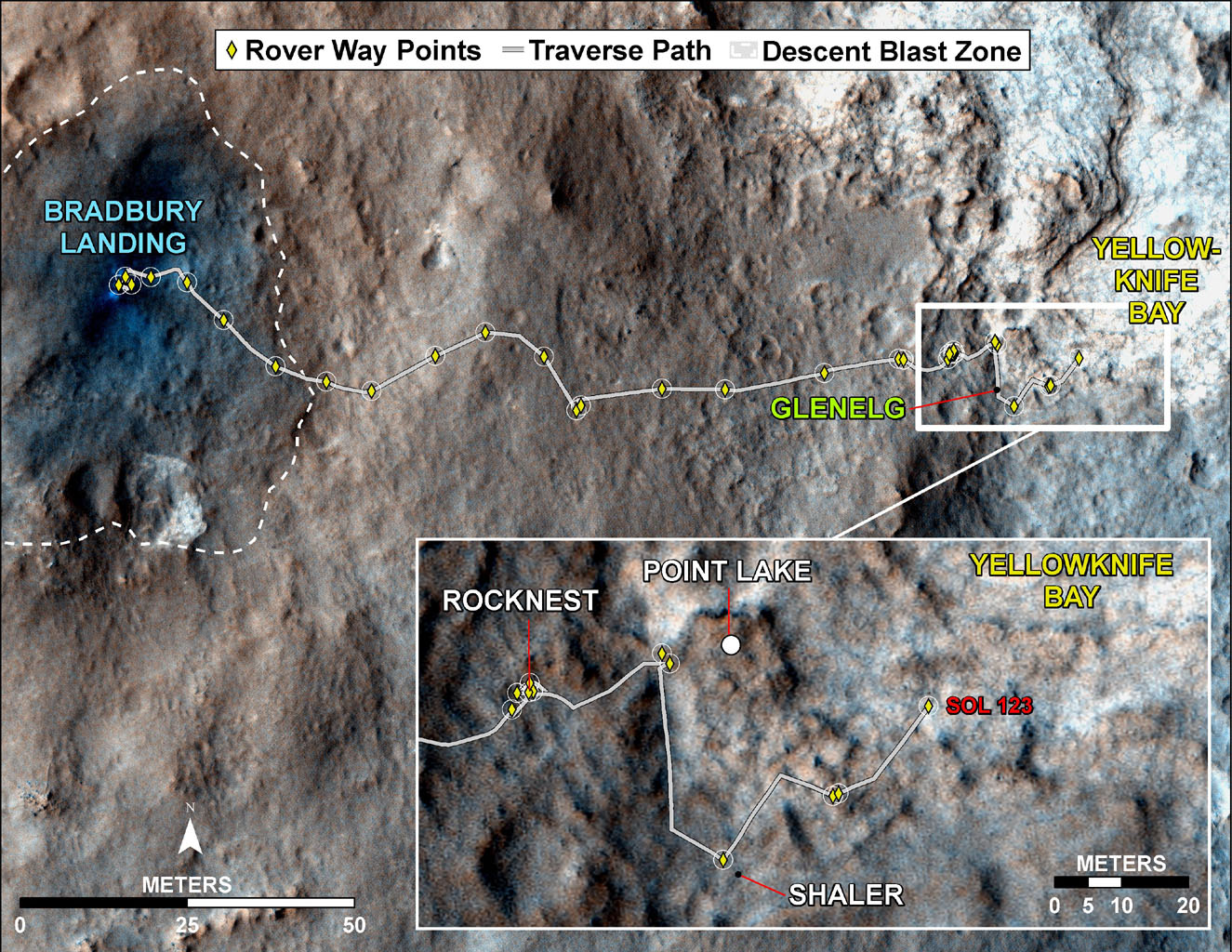 mars rover landing map - photo #4