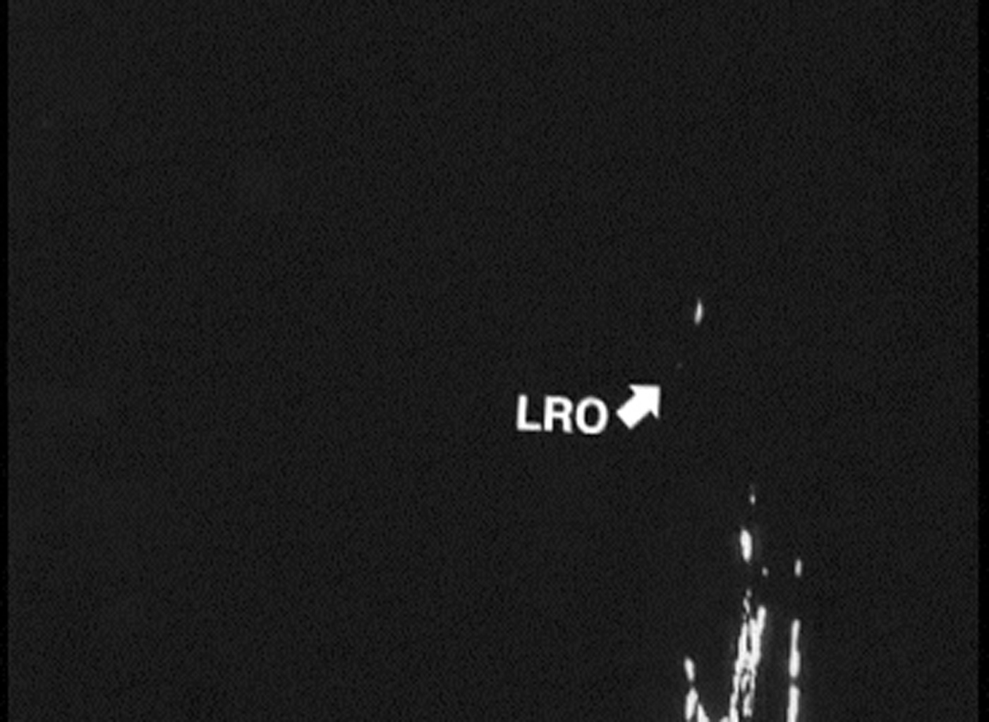 This is the first footage of one orbiting robotic spacecraft taken by another orbiting robotic spacecraft at Earth's moon. 'Flow,' one of two satellites making up NASA's GRAIL mission, captured this video of NASA's LRO as it flew by.