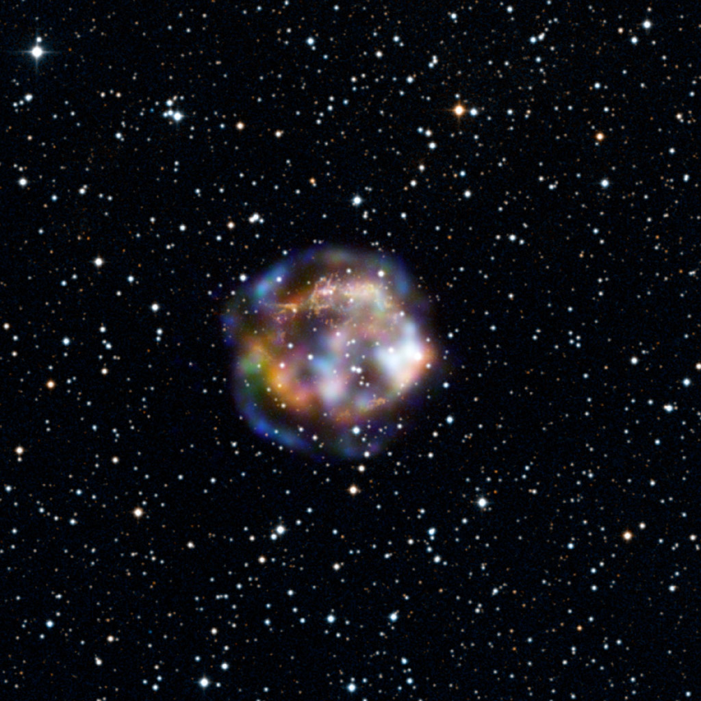This new view of the historical supernova remnant Cassiopeia A, located 11,000 light-years away, was taken by NASA's Nuclear Spectroscopic Telescope Array, or NuSTAR. While the star is long dead, its remains are still bursting with action.