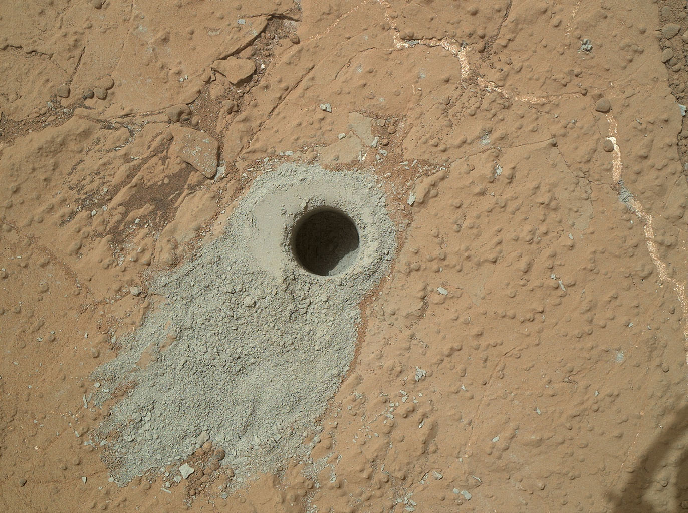 Space Images | 'Cumberland' Target Drilled by Curiosity