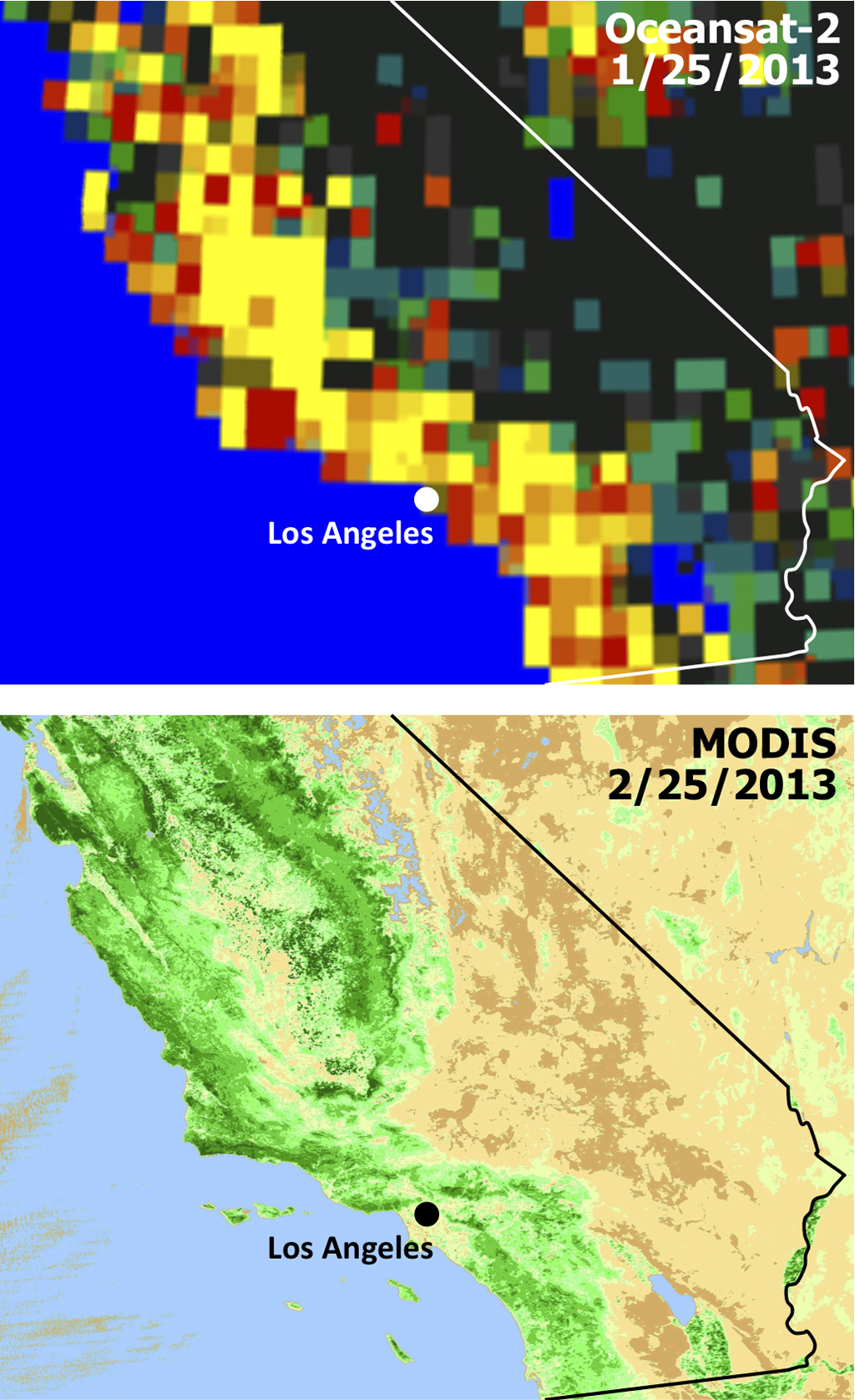 Space images satellites see double jeopardy for socal for Soil jeopardy