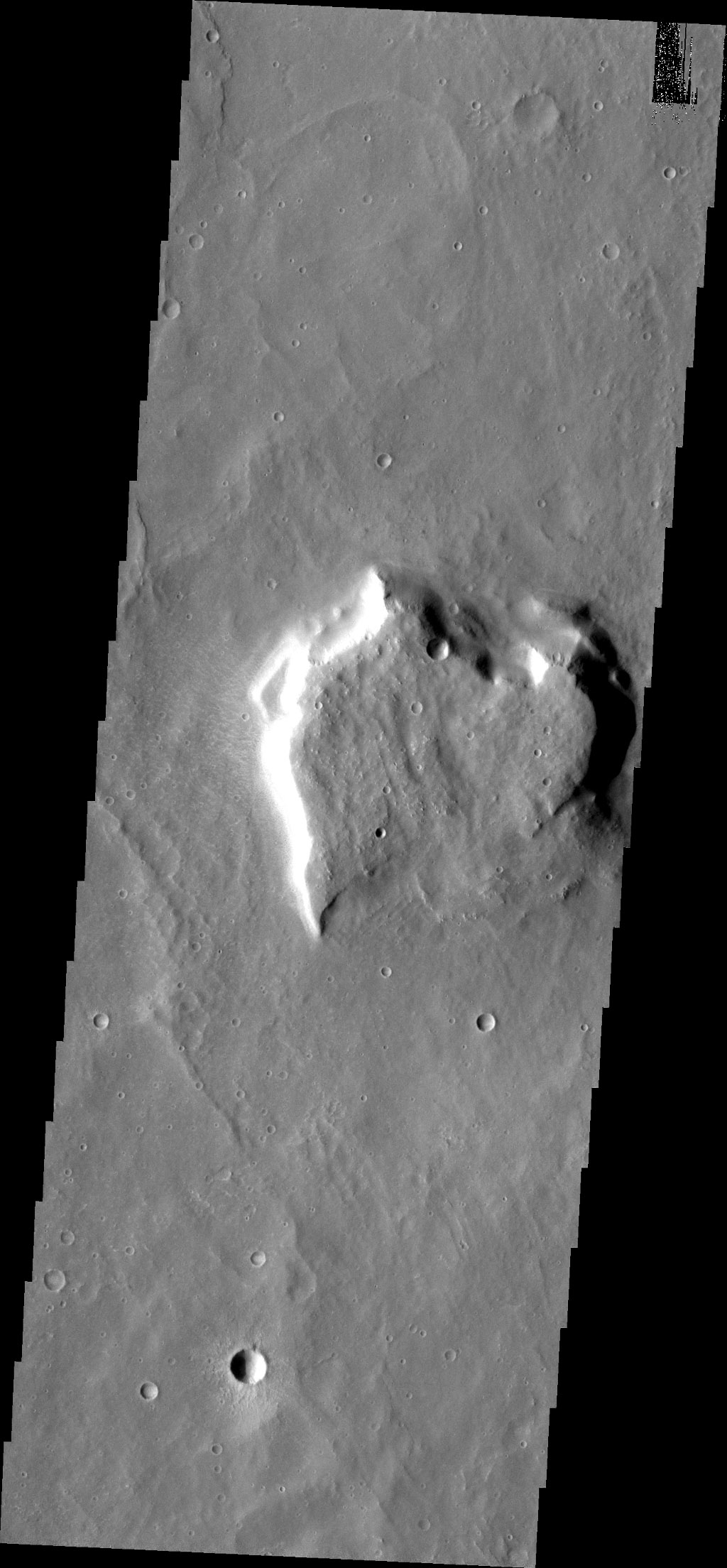 Do you see what I see in this image from NASA's Mars Odyssey spacecraft? Though not as pretty as our previous heart-shaped mesa, here's another one.