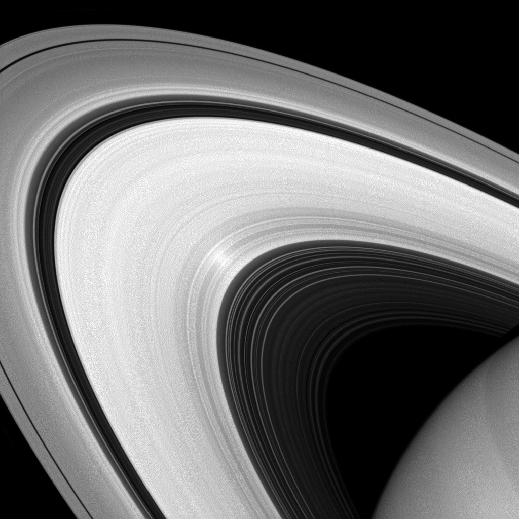 Scientists can use images such as this one from NASA's Cassini spacecraft to learn more about the nature of the particles that make up Saturn's rings.