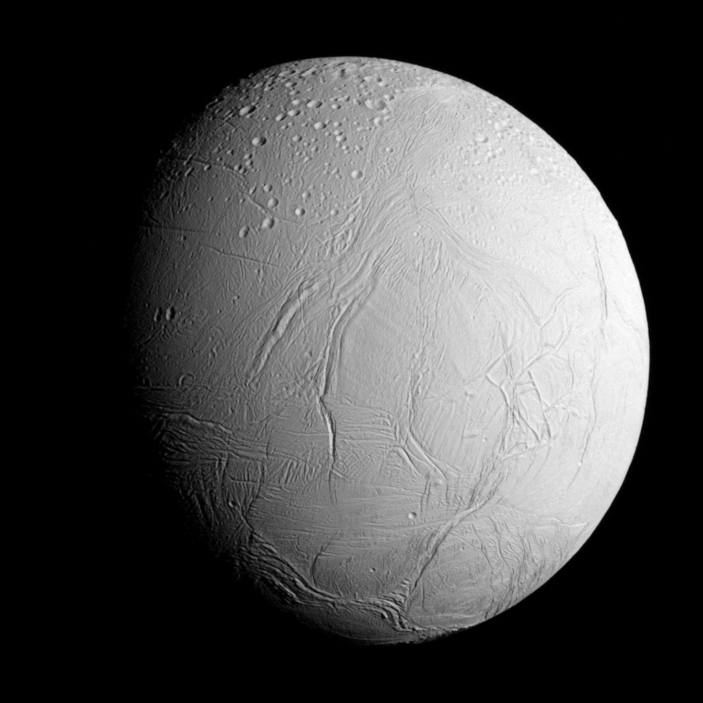 Space Images Approaching Enceladus