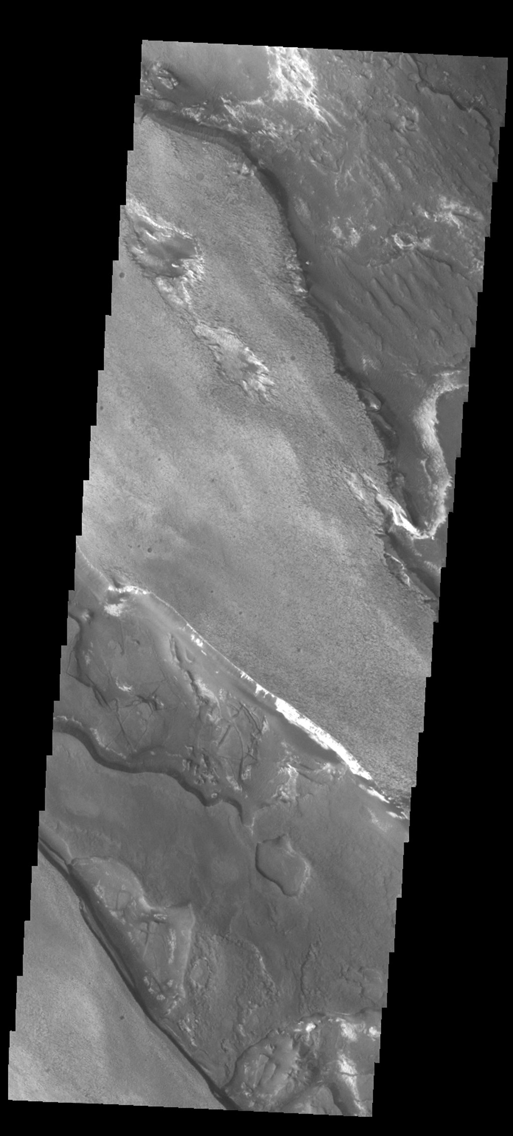 The different layers of material in this occur in Aram Chaos as seen in this image from NASA's 2001 Mars Odyssey spacecraft.