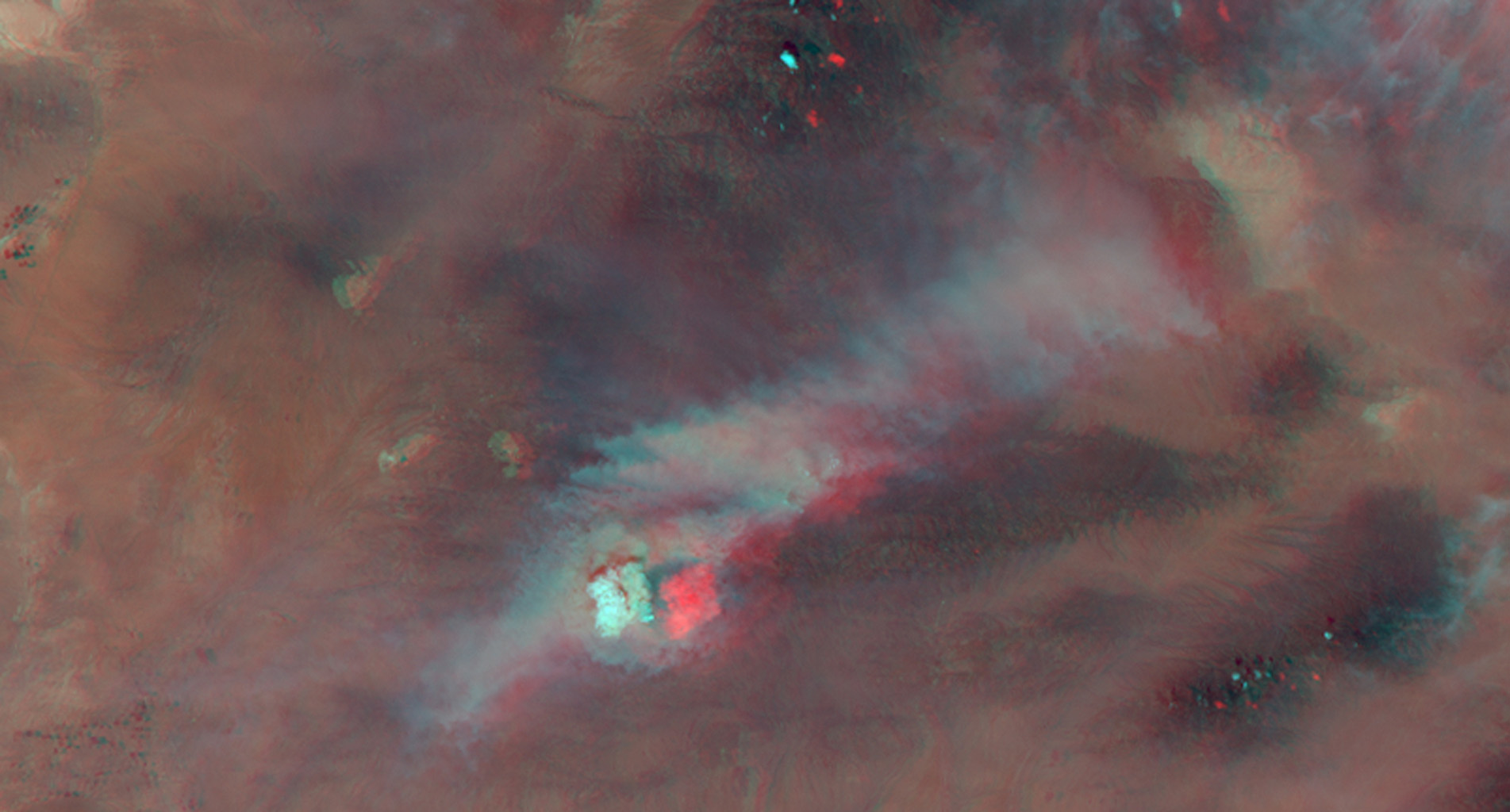 NASA's Terra satellite passed over the Silver Fire in New Mexico June 12, 2013. By combining information from different MISR cameras, scientists have produced a 3D image of the smoke plume associated with the Silver Fire.
