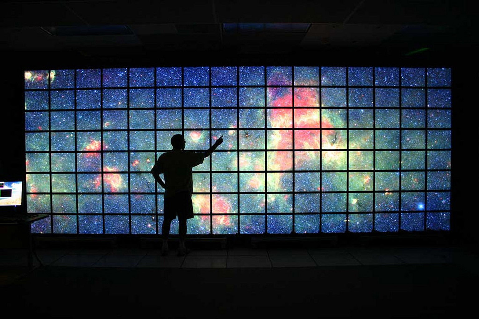 Space images big data on the big screen for Big wallpaper for wall