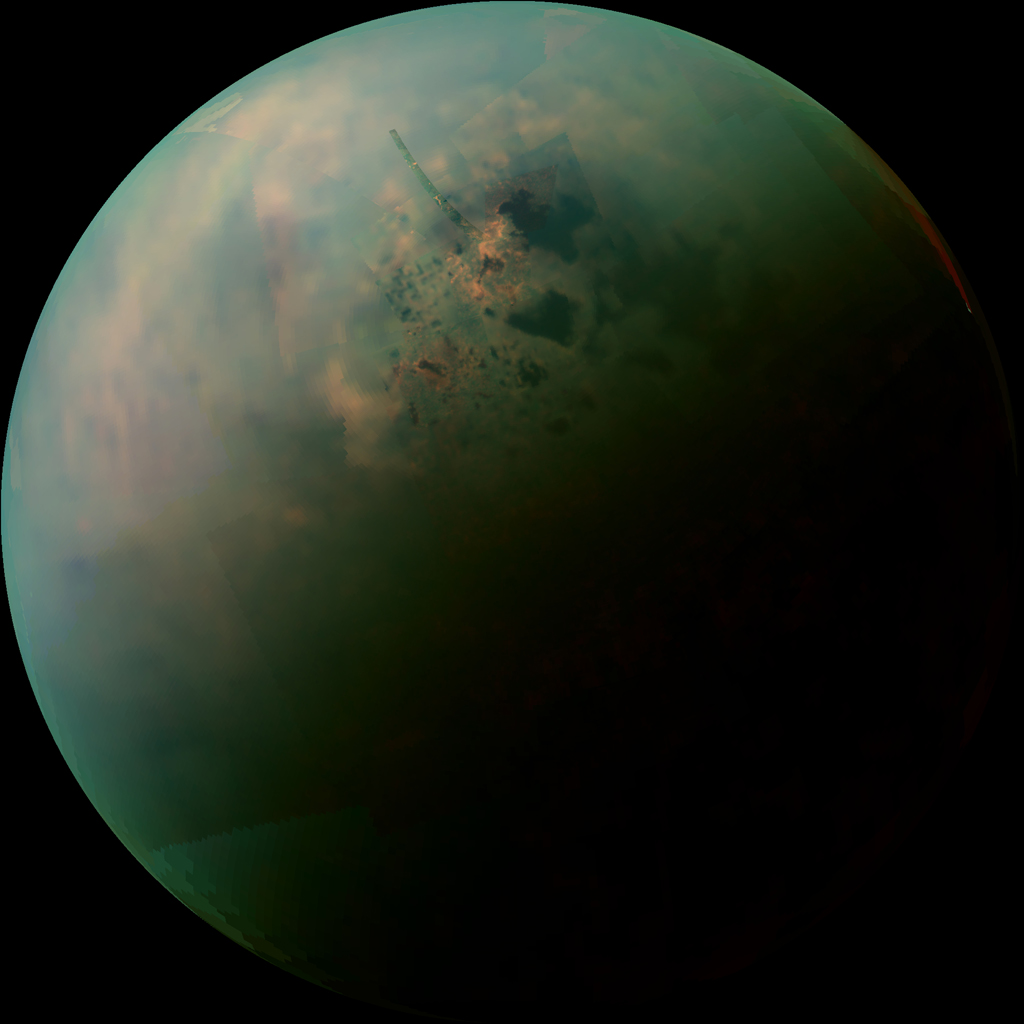 NASA's Cassini spacecraft reveals the differences in the composition of surface materials around hydrocarbon lakes at Titan.