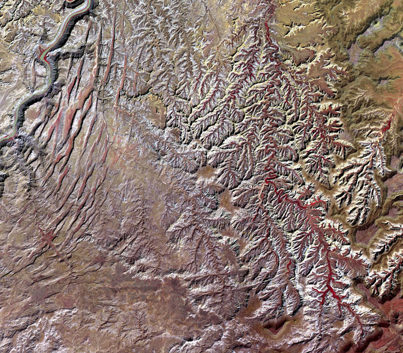 This image, acquired by NASA's Terra spacecraft, is of Canyonlands National Park, Utah, a showcase of geology in the southwest desert of the United States.
