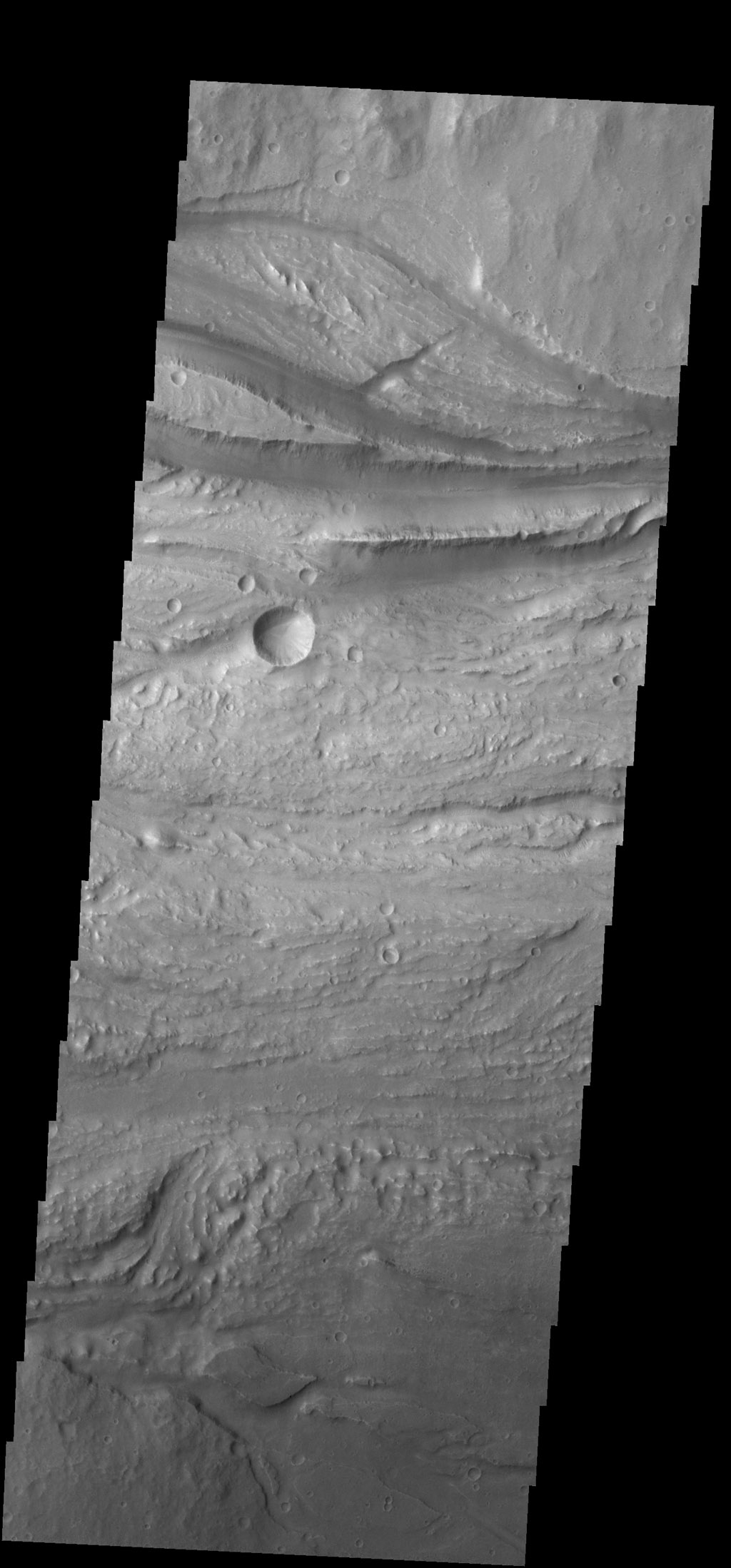 The channels in this image are part of Ravi Vallis as seen by NASA's 2001 Mars Odyssey spacecraft.