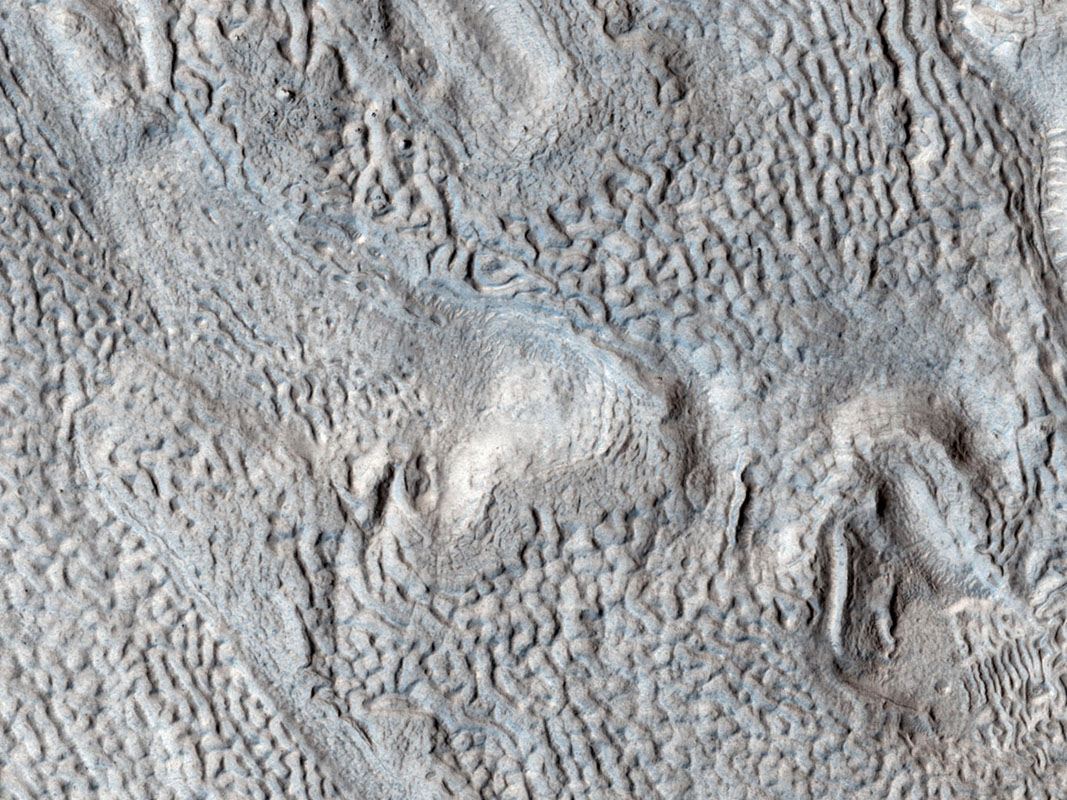 Ridges and Grooves That Wave and Buckle on a Valley Floor