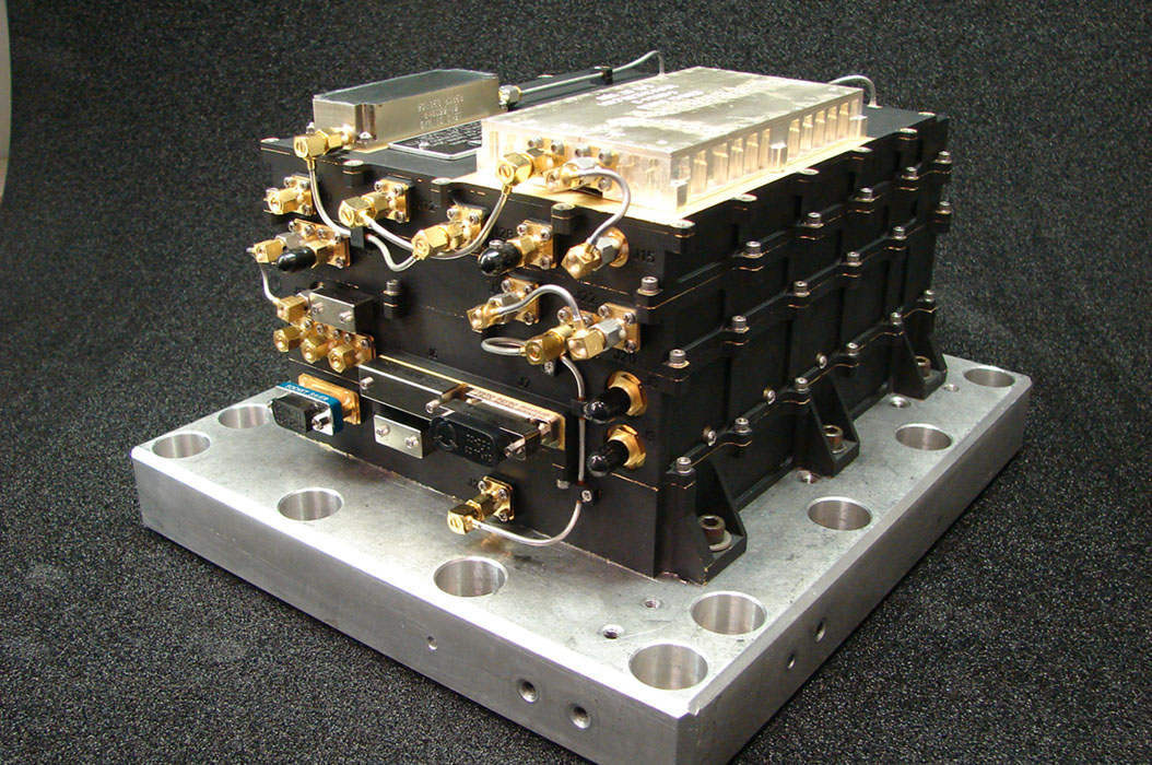 This radio hardware, the Electra UHF Transceiver on NASA's MAVEN mission to Mars, is designed to provide communication relay support for robots on the surface of Mars.