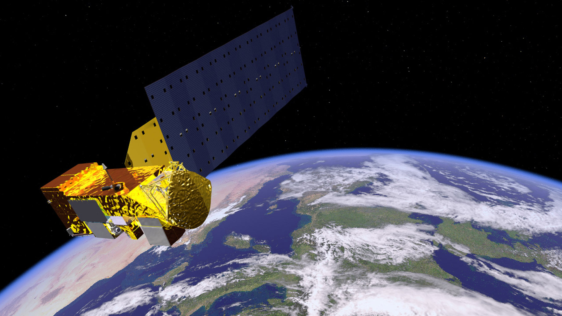 Space Images | Aqua Satellite Orbiting Earth (Artist's ... Terra And Aqua Satellite