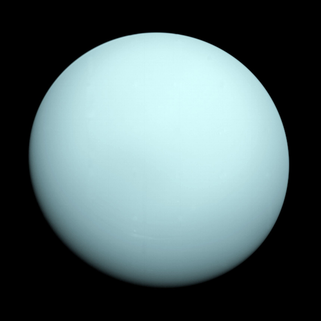 This Is An Image Of The Planet Uranus Taken By Spacecraft Voyager 2 In 1986
