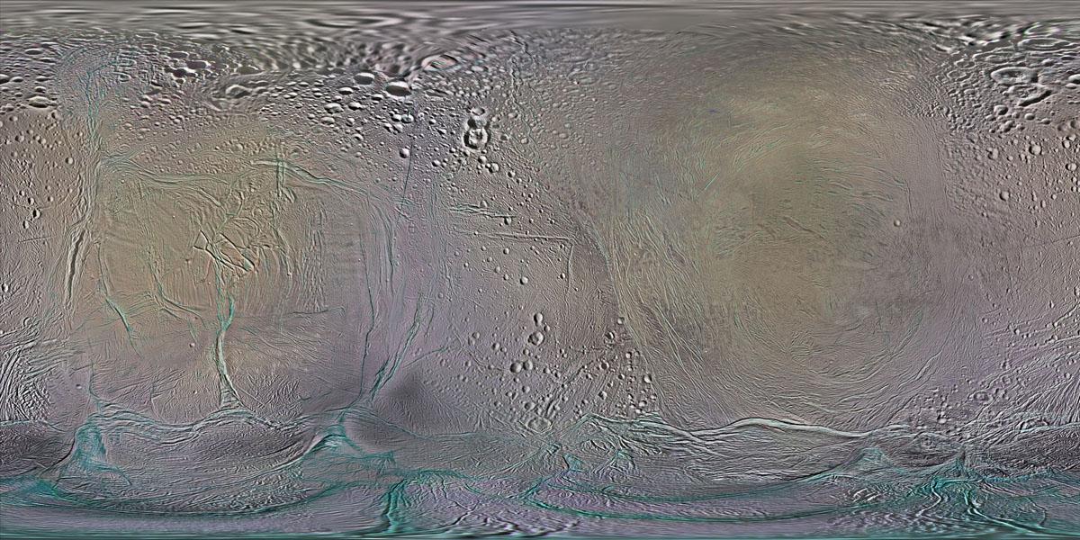 Space Images | Color Maps of Enceladus - 2014