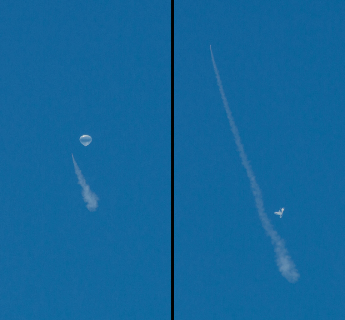The test vehicle for NASA's Low-Density Supersonic Decelerator is seen here before and after the balloon that helped carry it to near-space was deflated.