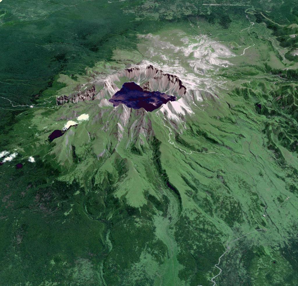 Space Images Baektu Mountain China Amp North Korea