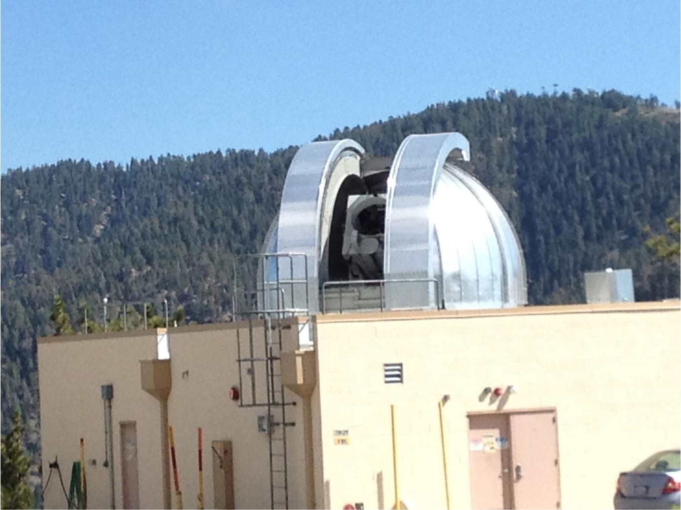NASA's Optical Communications Telescope Laboratory (OCTL) dome is located in Table Mountain, California. It is used in conjunction with The Optical PAyload for Lasercomm Science (OPALS).