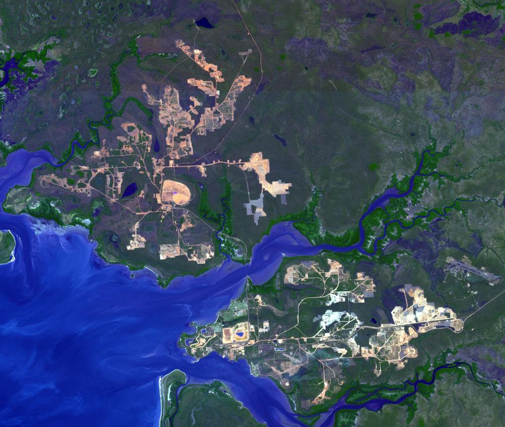 Map Of Australia Cape York Peninsula.Space Images Weipa Queensland Australia