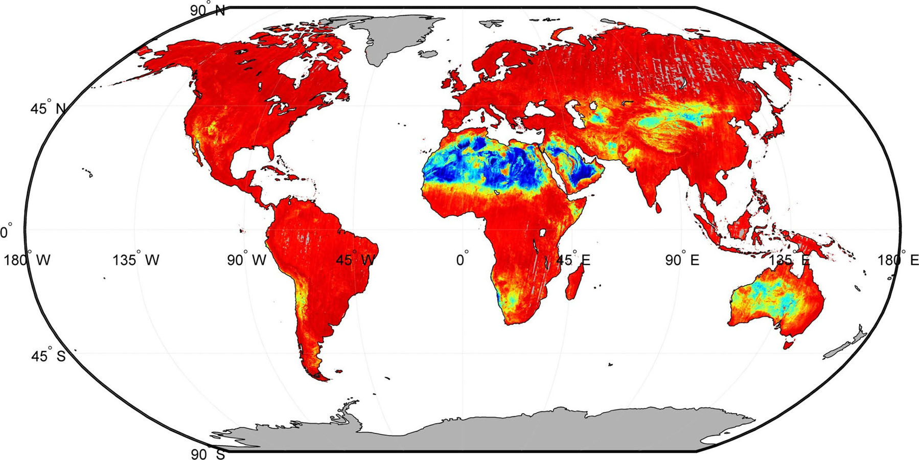 Thermal Map Of The World.Space Images Nasa Spacecraft Maps Earth S Global Emissivity