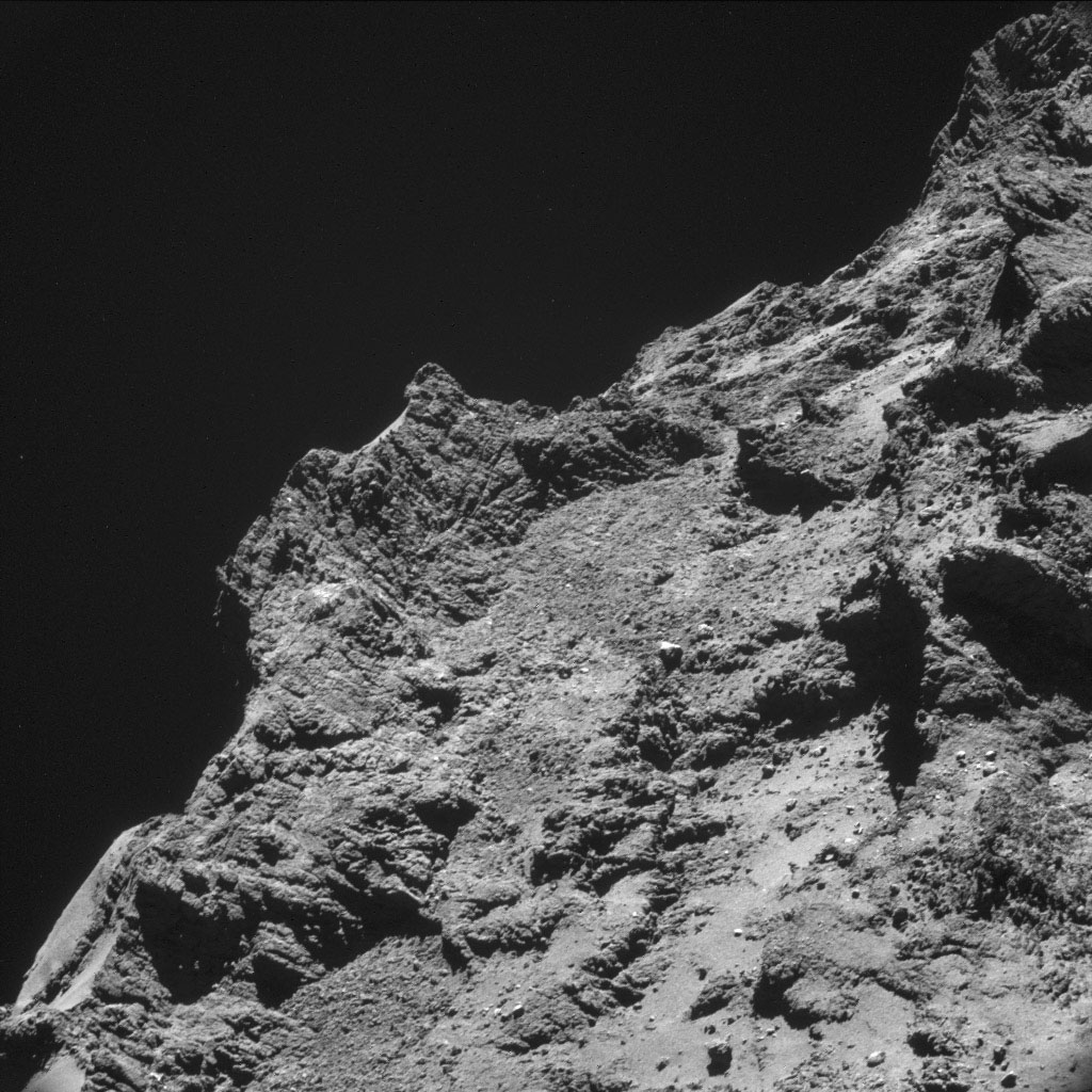 Space Images | Rough Terrain on Rosetta's Destination Comet
