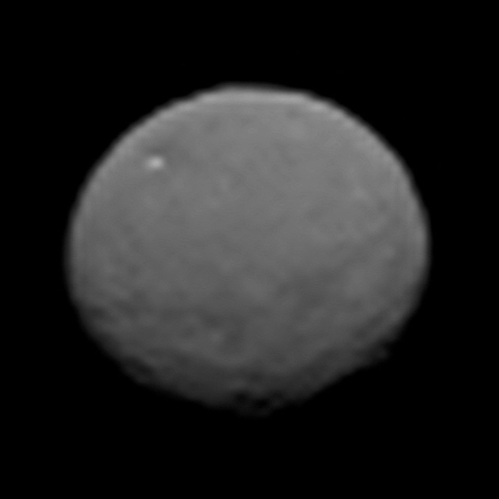 This image, taken 147,000 miles (237,000 kilometers) from Ceres on January 25, 2015 by NASA's Dawn spacecraft, is part of a series of views representing the best look so far at the dwarf planet.