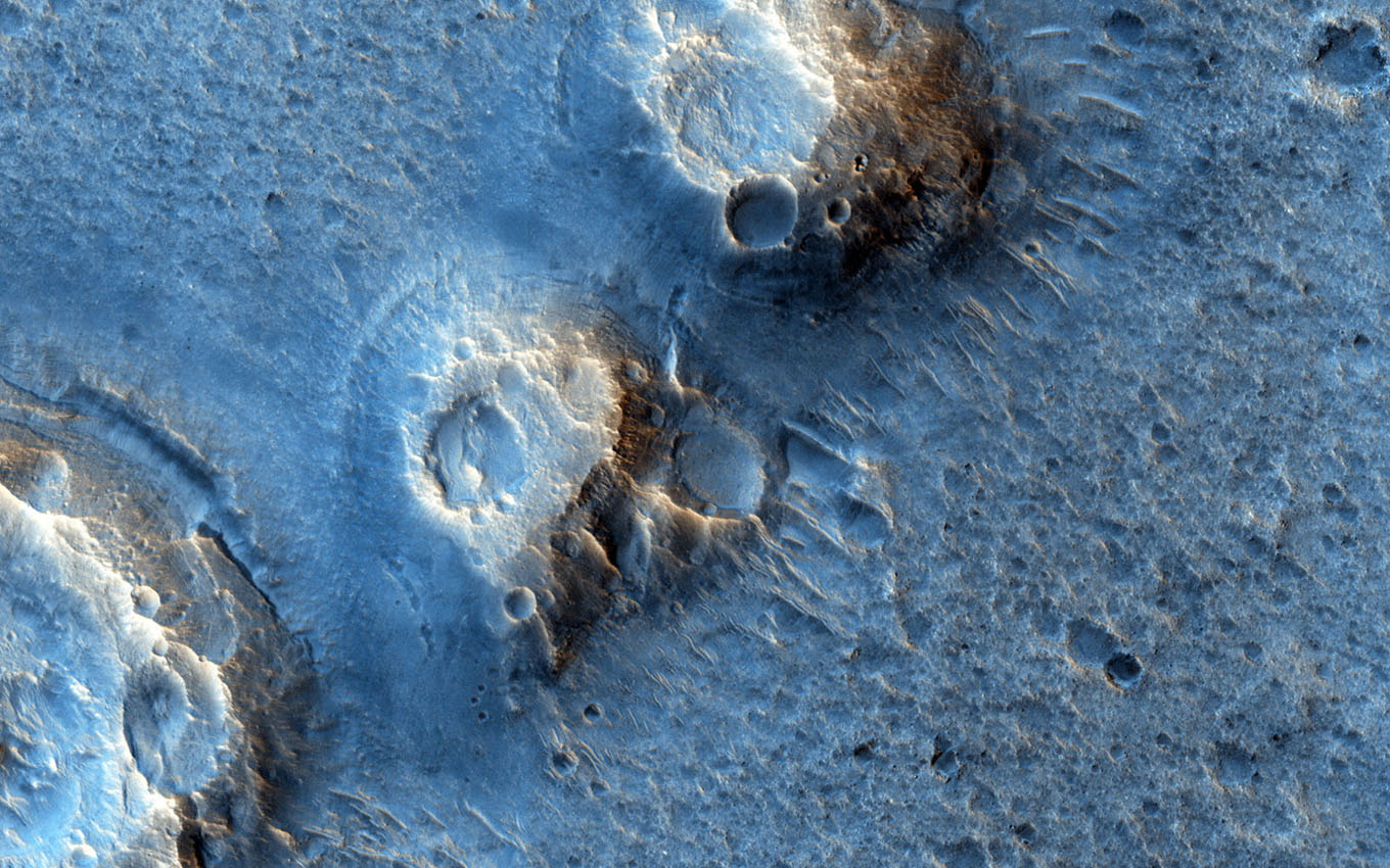 This image from NASA's Mars Reconnaissance Orbiter shows a region of Acidalia Planitia which is covered by dense fields of boulders up to several meters high.