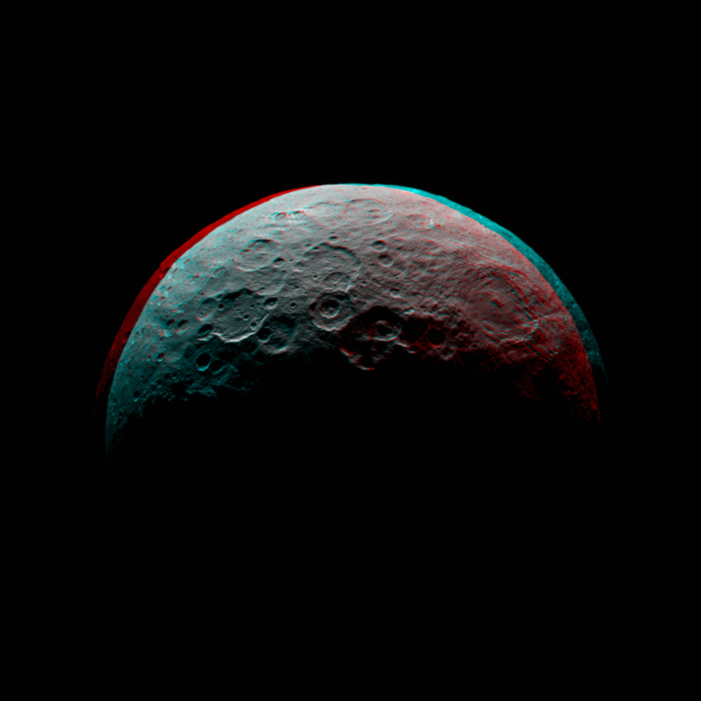 Anaglyph of Ceres