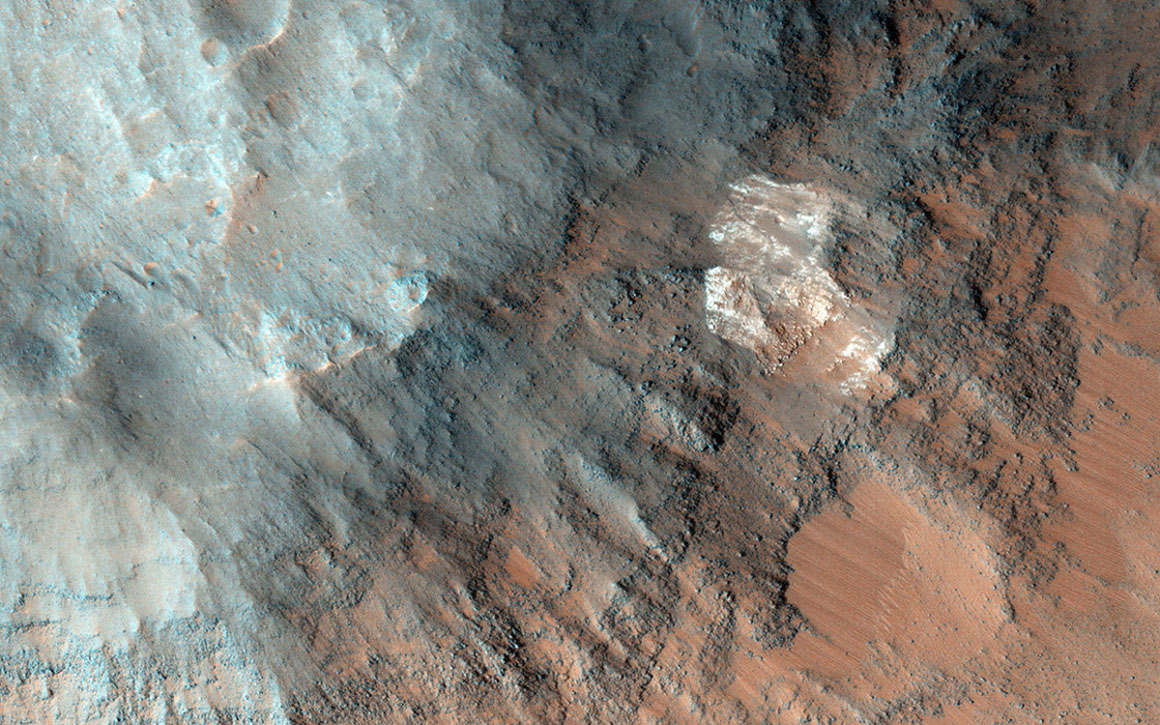 Coprates Chasma is located in the huge canyon system, Vallis Marineris. NASA's Mars Reconnaissance Orbiter finds indications of high thermal inertia.