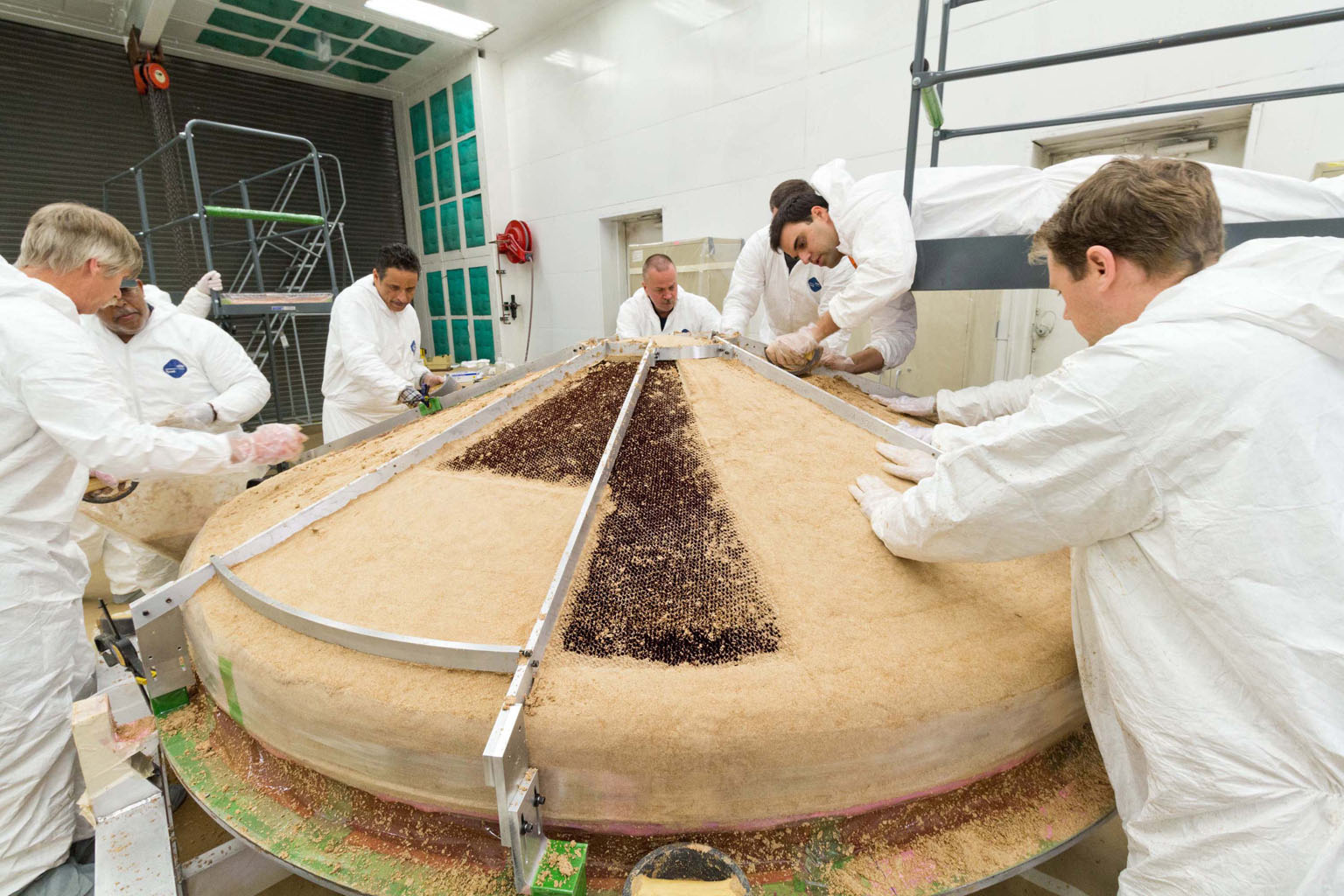 Land Rover Denver >> Space Images | Heat Shield Construction for NASA's InSight