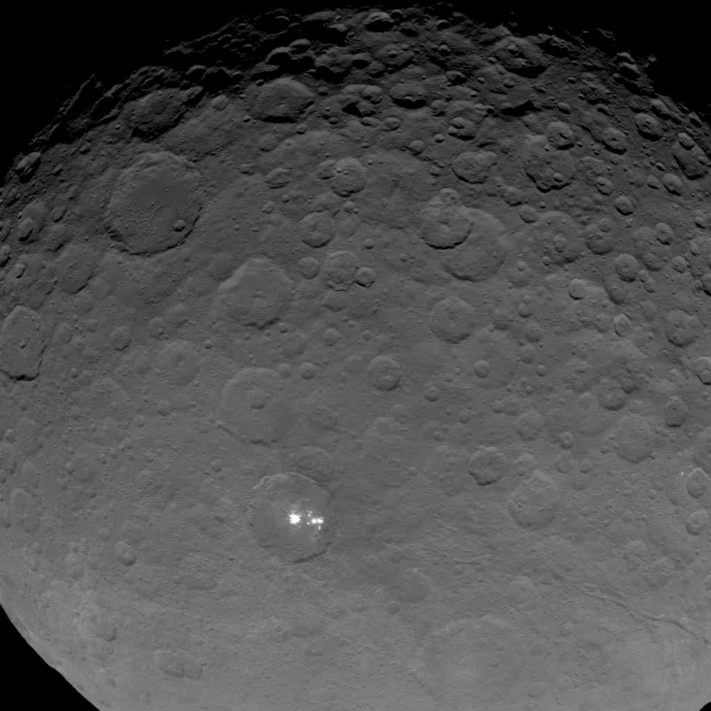 This image of Ceres is part of a sequence taken by NASA's Dawn spacecraft on May 16, 2015, from a distance of 4,500 miles (7,200 kilometers).