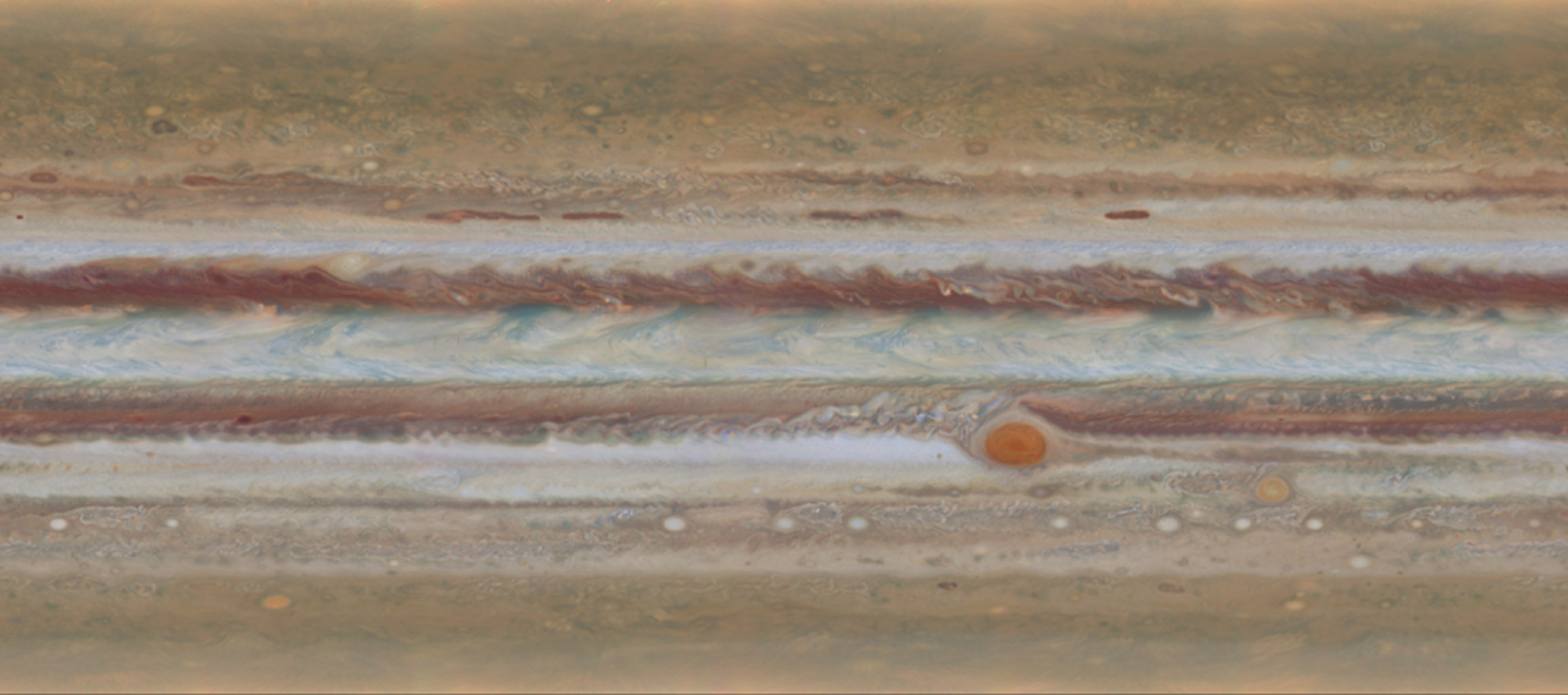 Space Images Spinning Jupiter and Global Map