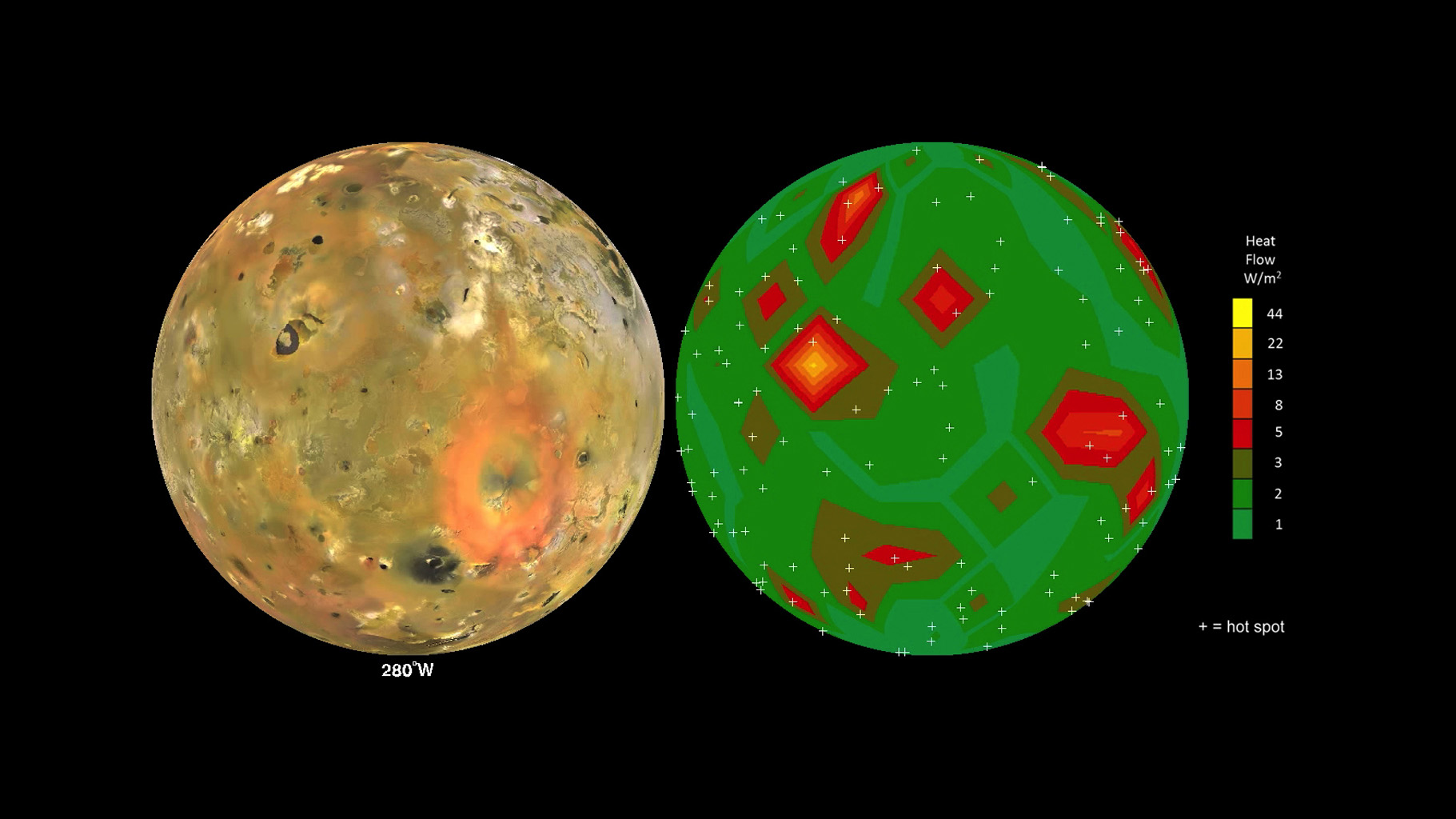 Space Images | Map of Io's Volcanic Heat Flow