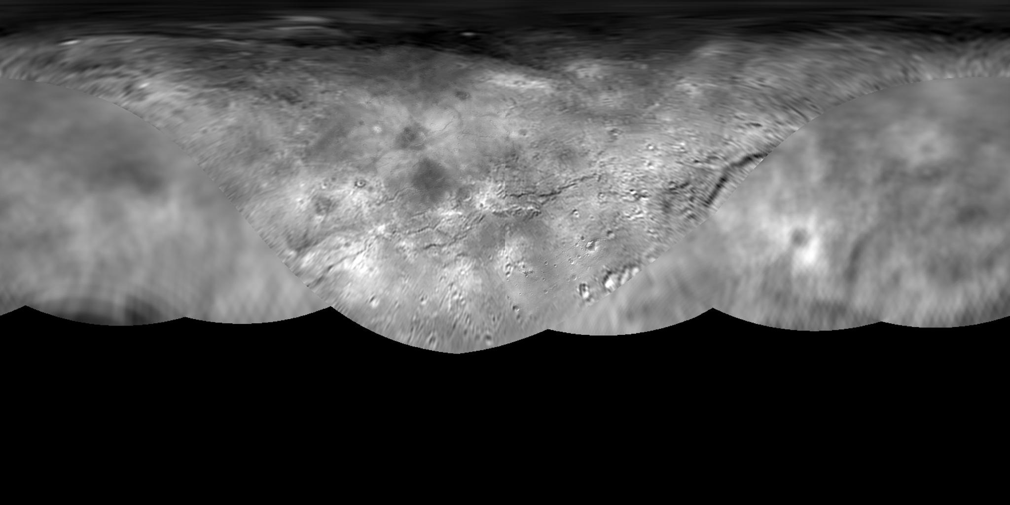 Kerberos Moon Of Plluto: Global Map Of Pluto's Moon Charon