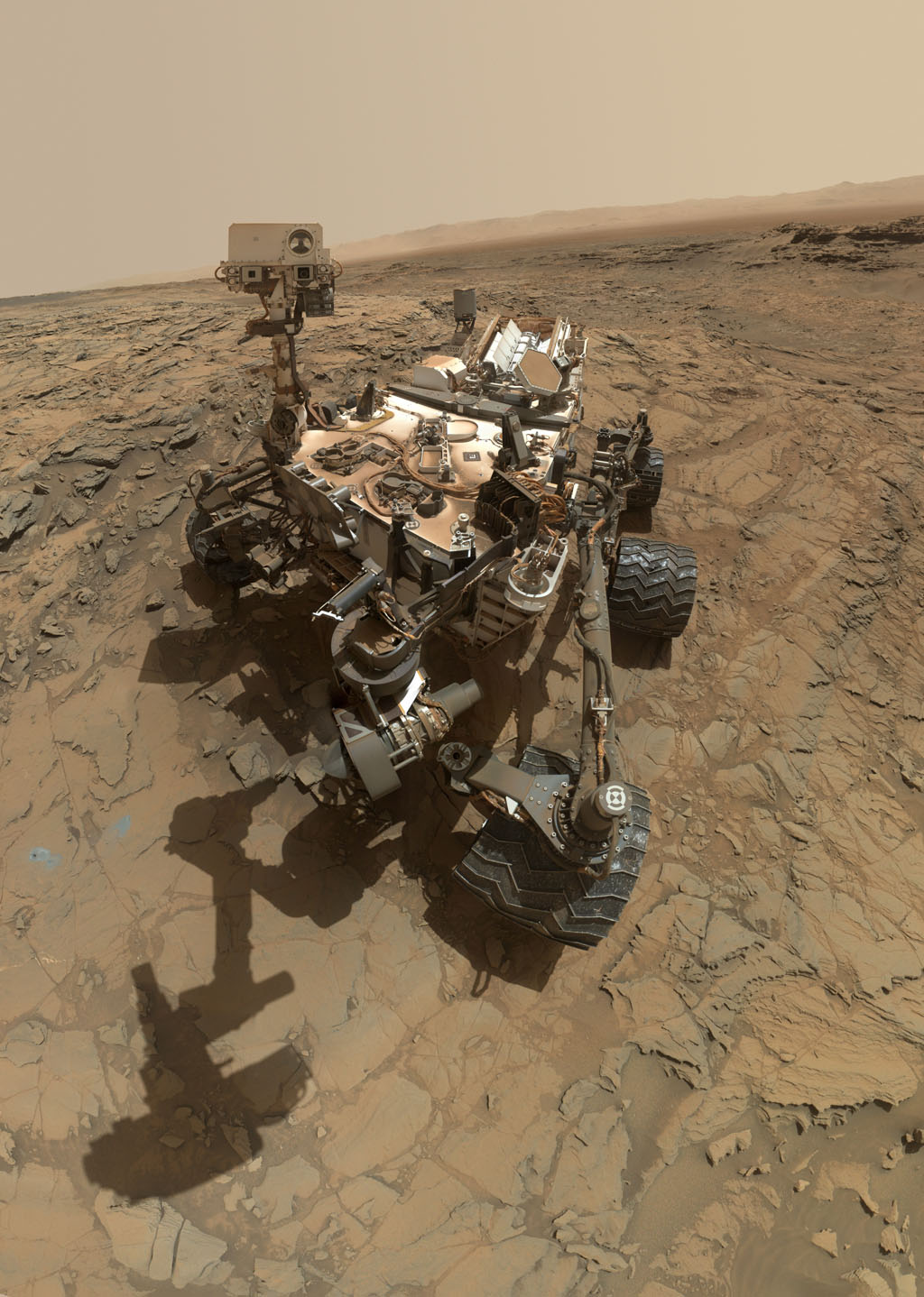 Space Images | Curiosity Self-Portrait at 'Big Sky' Drilling Site