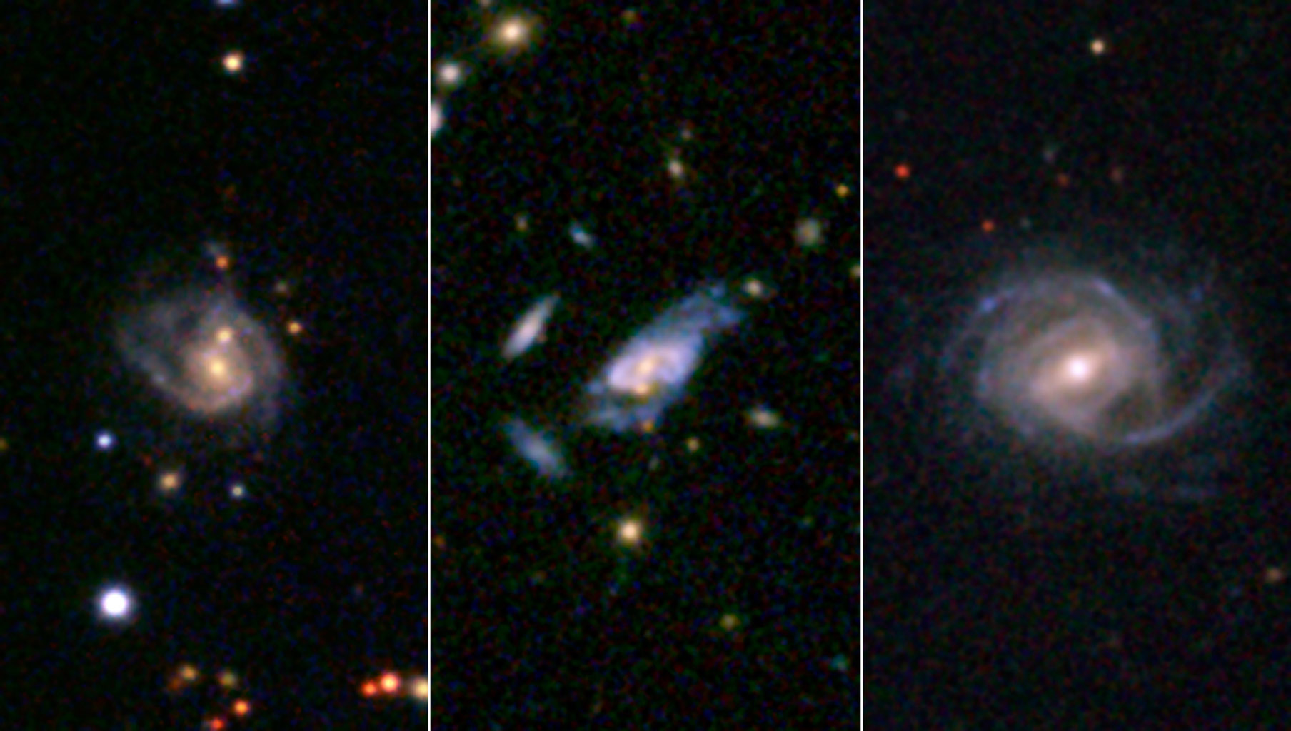 In archived NASA data, researchers have discovered 'super spiral' galaxies that dwarf our own spiral galaxy, the Milky Way, and compete in size and brightness with the largest galaxies in the universe.