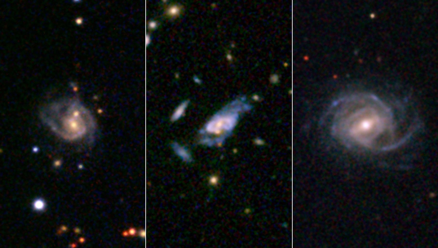 Space Images Gargantuan Super Spiral Galaxies Loom