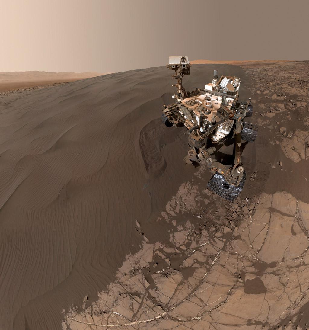 Curiosity SelfPortrait at Okoruso Drill Hole Mars