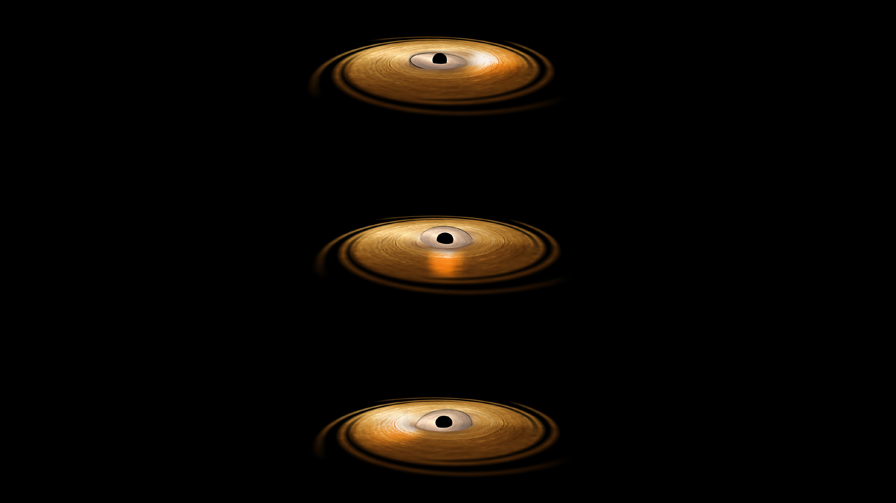 Space Images | Black Hole with 'Wobbling' Disk (Artist ...
