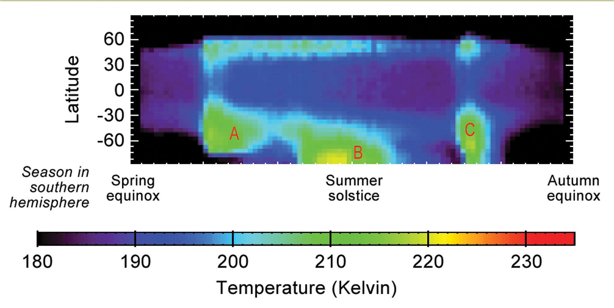 Space Images   Seasonal Temperature Pattern Indicating ...