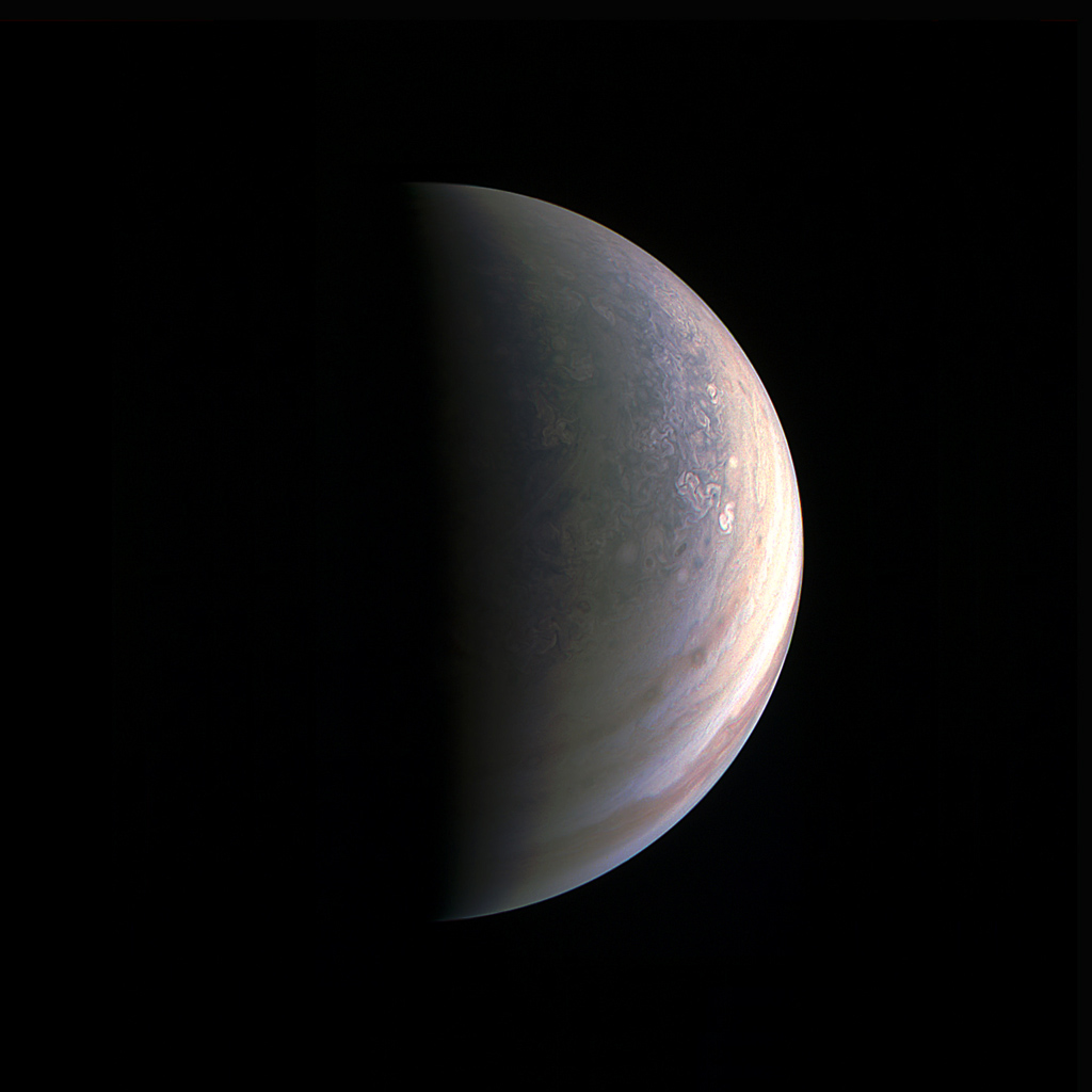 Jupiter's north polar region on August 27th, NASA/JPL