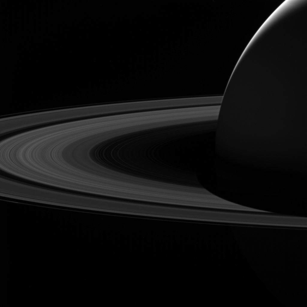 Stunning views like this image of Saturn's night side are only possible thanks to our robotic emissaries like NASA's Cassini spacecraft. The Cassini spacecraft ended its mission on Sept. 15, 2017.