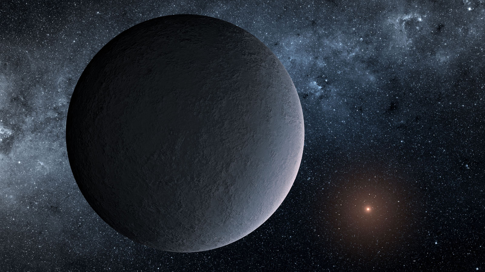 This artist's concept shows OGLE-2016-BLG-1195Lb, a planet discovered through a technique called microlensing used by NASA's Spitzer Space Telescope.